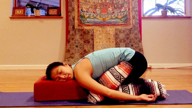 Restorative Yoga: 5 Poses for a Mindful Release