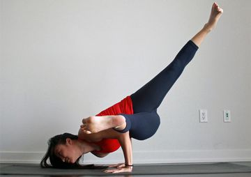 How To Do Twisted One-Legged Arm Balance Pose