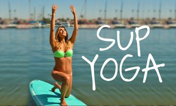 Are You Down For Some Stand-Up Paddleboard Yoga?