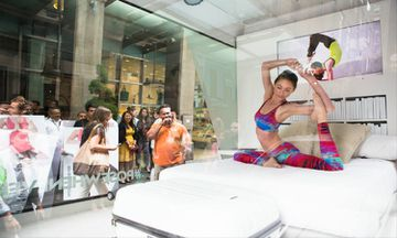 Tara Stiles Practices Yoga in a Glass Box