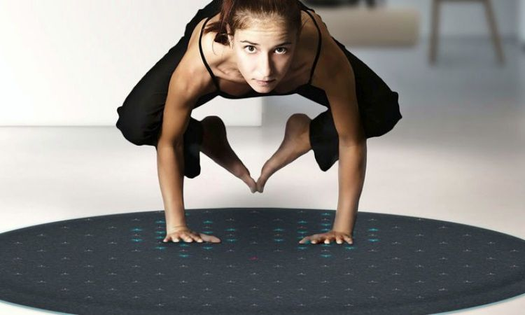 A Hi-Tech LED Fitness Mat For Yoga And Pilates