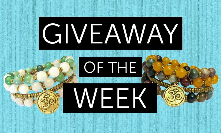 Giveaway - 3 x Beautiful Mala Bead Bracelets Worth $98