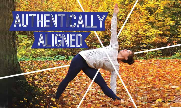 Authentically Aligned: Triangle Pose