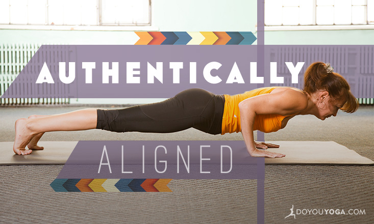 Authentically Aligned Chaturanga Dandasana