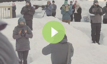 Snoga: Yoga in the Snow (VIDEO)