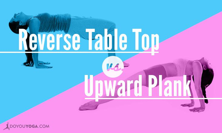 The Difference Between Upward Plank and Reverse Table Top