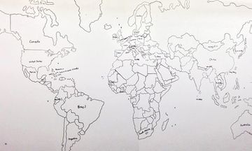 Boy With Autism Amazes College Class With This Incredible Hand-Drawn Map