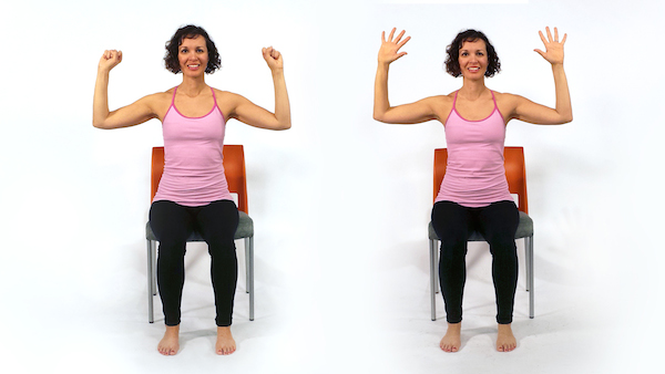 Yoga Pose: Fist, Spread, Arms Overhead