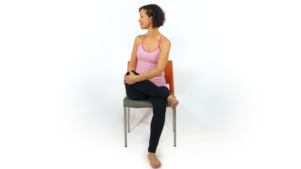 Seated Pigeon Twist