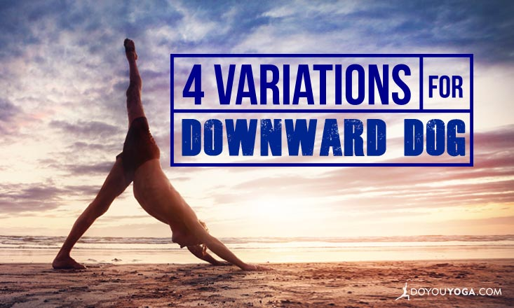 4 Variations for Downward-Facing Dog Pose