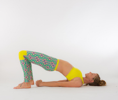 Woman in Bridge Pose