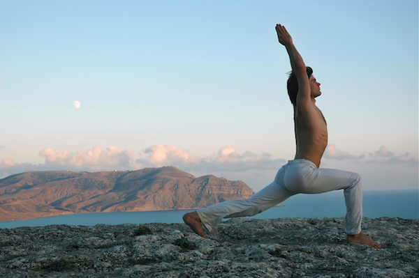 Man in Crescent Pose