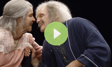 Engaged Couple Sees How They Look in Their 90's (VIDEO)