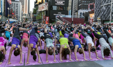 Solstice in Times Square: A Yogic Celebration