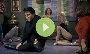 Watch Elvis Attempt to Do Yoga and Sing About It (VIDEO)