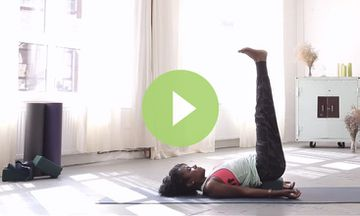 Meditation in Legs Up the Wall Pose (VIDEO)