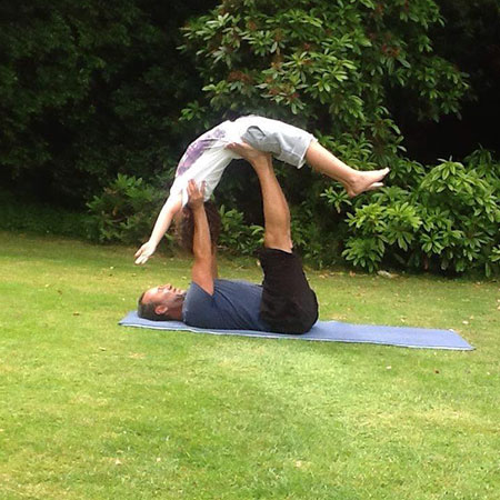 Father and Son Yoga