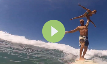 This Acro Surf Duo Will Blow Your Yogic Mind (VIDEO)