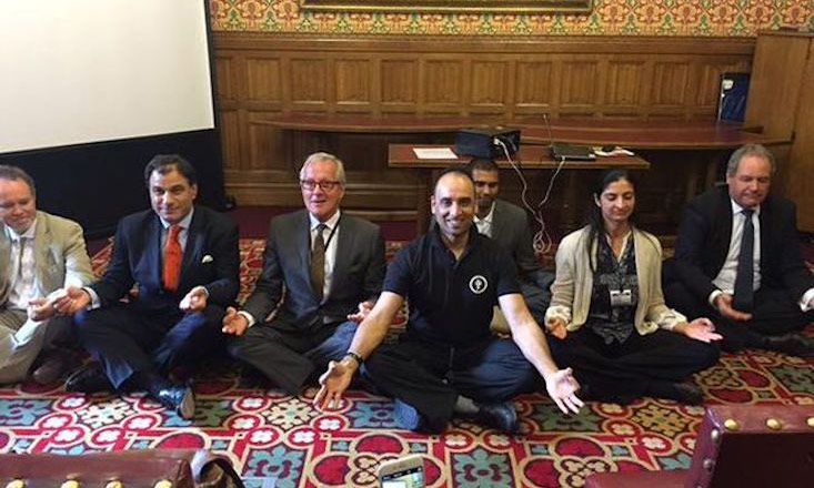 U.K. Parliament Takes A Yoga Break