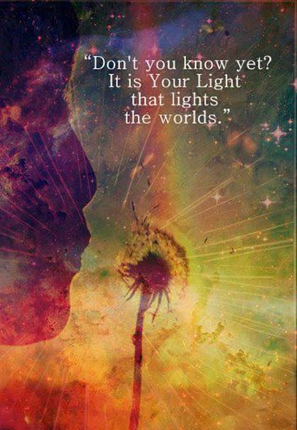 14. Your light lights the world- quotesn