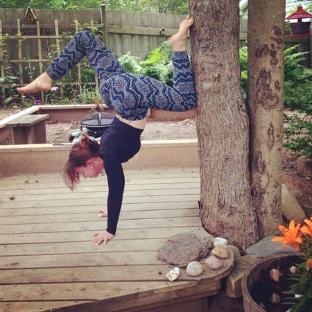 Handstand with Tree
