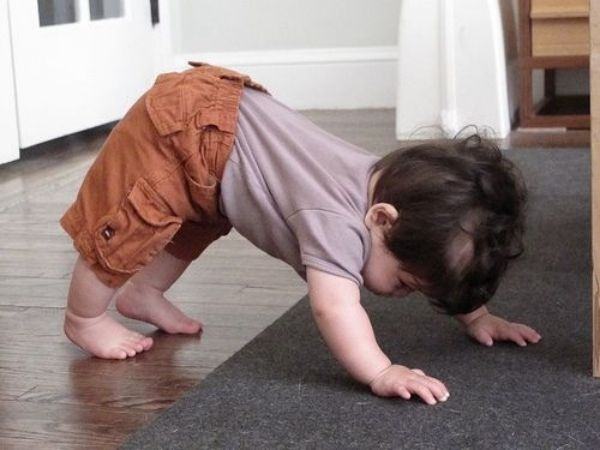 12 Adorable Babies Doing Yoga -- down dog