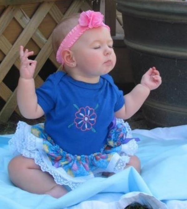 12 Adorable Babies Doing Yoga -- lotus pose