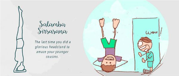 13 funny examples of unintentional asana practice - supported headstand