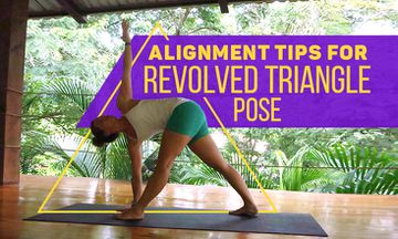 6 Alignment Tips for Revolved Triangle Pose