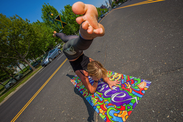 Check Out These Artsy, Graffiti-Inspired Yoga Mats