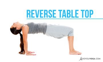 How to Do Reverse Table Top Pose