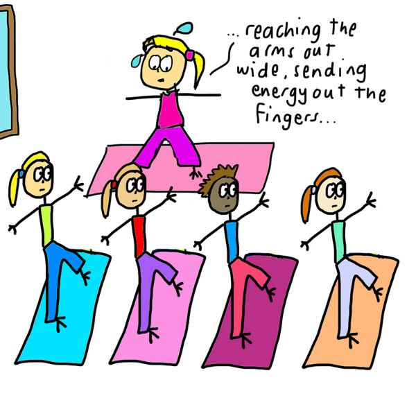 What It's REALLY Like to Teach a Yoga Class (Illustrated) 23