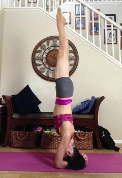 anika- getting into full headstand 3
