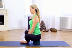 bound angle pose with block