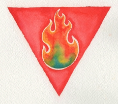 Yantra representation for the Fire element, by Susan Fauman