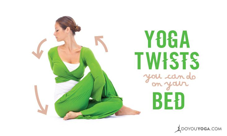 5 Gentle Yoga Twists To Ease Stress, Right From Your Bed