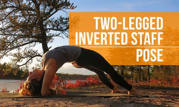 How to Do Two-Legged Inverted Staff Pose