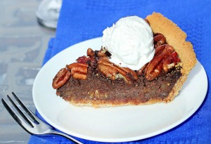 the 10 best healthy thanksgiving recipes - chocolate pecan pie