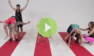 BFFs Try Partner Yoga for the First Time (VIDEO)