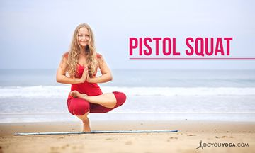 How to Do Pistol Squat, or Toe Stand