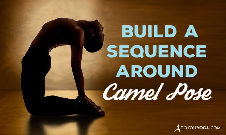 sequence around camel pose