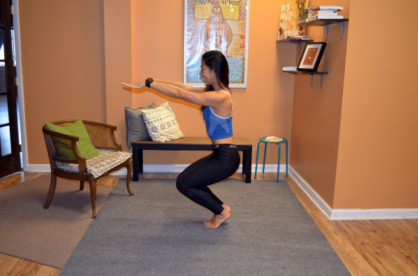 chair pose variation