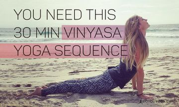 30-Minute Vinyasa Yoga Sequence You Need This Fall