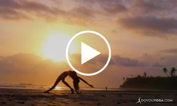 Yoga From The Heart: A Beautiful Sunset Yoga Flow to Poetry (VIDEO)