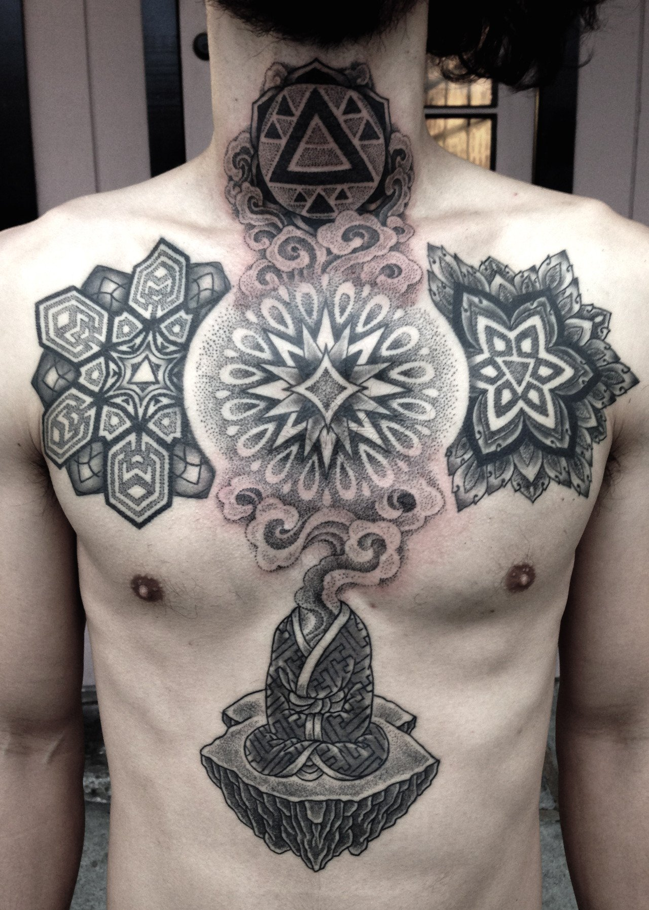 sacred geometry yoga tattoo