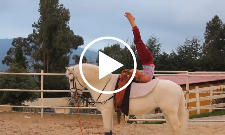 Watch This Man Do Amazing Horseback Yoga (VIDEO)