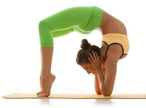 wheel pose on elbows