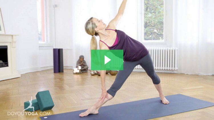 Triangle pose lesson with kristin mcgee