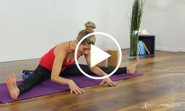 10-Minute Yoga Practice for Hamstrings and Inner Thighs (VIDEO)