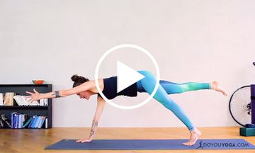Intermediate Vinyasa for Straight Up Core Strength (VIDEO)
